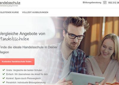 Ιστοσελίδα Handelsschule.ch που βοηθάει στην μετεκπαίδευση