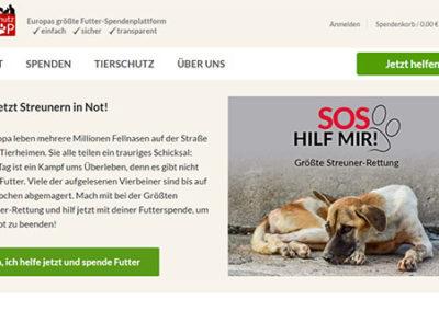 Tierschutzshop - Ηλεκτρονική πλατφόρμα για δωρεές που αφορούν ζώα