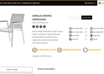 Αναλυτική σελίδα προϊόντων του ηλεκτρονικού καταστήματος